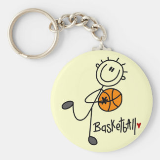 Stick Figure Basketball T-shirts and Gifts Keychains