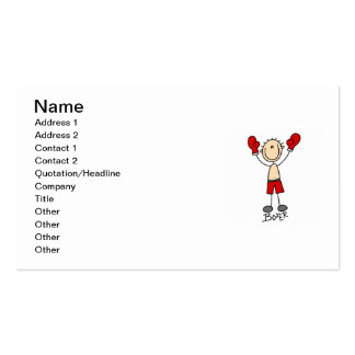 Stick Figure Boxer T-shirts and Gifts Pack Of Standard Business Cards