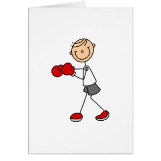 Stick Figure Boxing Card