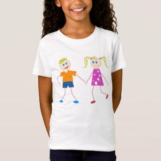 Stick Figure Boy & Girl T-Shirt