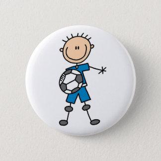 Stick Figure Boy Soccer Button