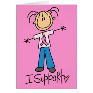 Stick Figure Breast Cancer Support Card