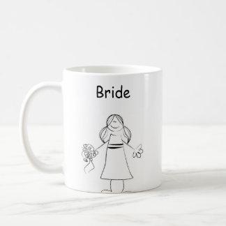 Stick Figure Bride Basic White Mug
