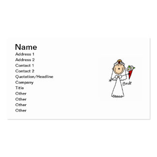 Stick Figure Bride T shirts and Gifts Pack Of Standard Business Cards