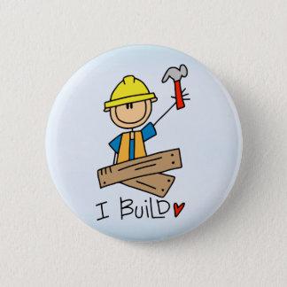 Stick Figure Carpenter 6 Cm Round Badge
