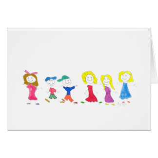 Stick Figure Children 2 Cards