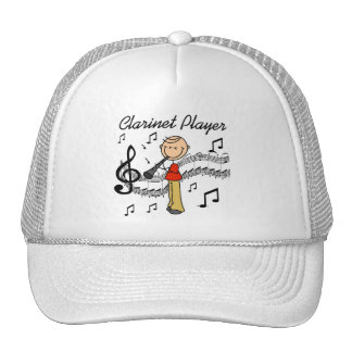 Stick Figure Clarinet Player Tshirts and Gifts Mesh Hat