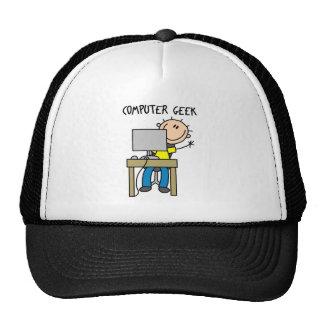 Stick Figure Computer Geek Baseball Cap Mesh Hats