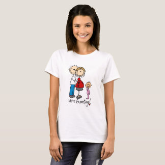 Stick Figure Couple Toddler Girl We're Expecting T-Shirt