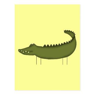 Stick Figure Crocodile tshirts and Gifts Postcard