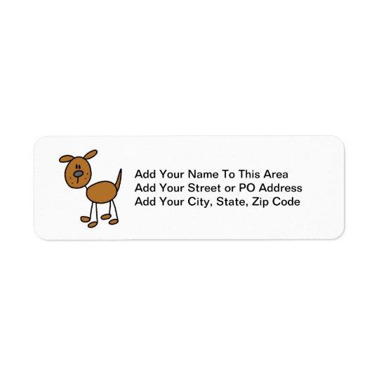 Stick Figure Dog T-shirts and Gifts Return Address Label
