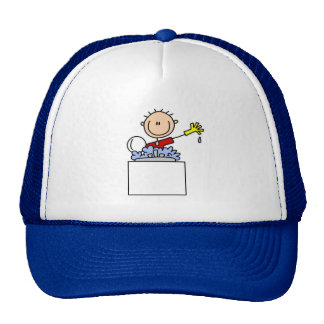 Stick Figure Doing Dishes Mesh Hat