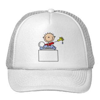 Stick Figure Doing Dishes Trucker Hat