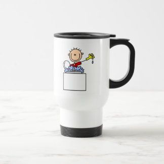Stick Figure Doing Dishes Coffee Mug