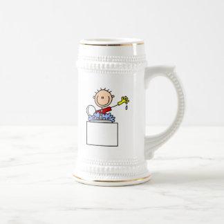 Stick Figure Doing Dishes Mugs