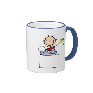 Stick Figure Doing Dishes Mug