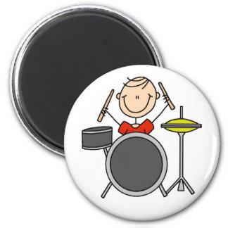 Stick Figure Drummer Magnet