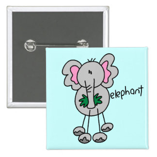 Stick Figure Elephant Tshirts and Gifts Buttons