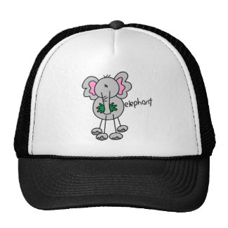 Stick Figure Elephant Tshirts and Gifts Mesh Hat