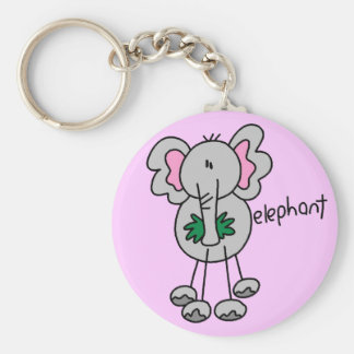 Stick Figure Elephant Tshirts and Gifts Key Chain
