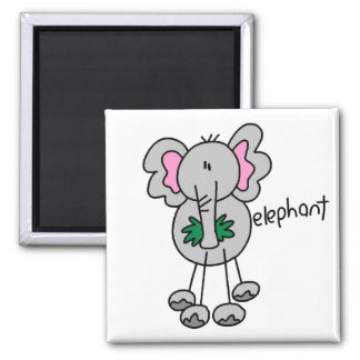 Stick Figure Elephant Tshirts and Gifts Magnet