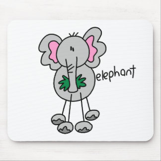 Stick Figure Elephant Tshirts and Gifts Mouse Mat