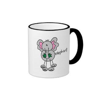 Stick Figure Elephant Tshirts and Gifts Coffee Mugs