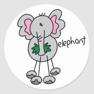 Stick Figure Elephant Tshirts and Gifts Stickers