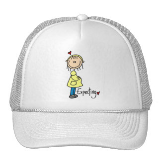 Stick Figure Expecting Baby Mesh Hats