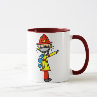 Stick Figure Firefighter with Mask Mug