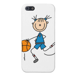 Stick Figure Girl Basketball Player  Cover For iPhone 5/5S