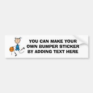 Stick Figure Girl Basketball Player Tshirts Car Bumper Sticker