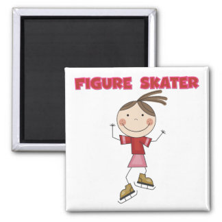 Stick Figure Girl Figure Skater Tshirts and Gifts Fridge Magnets