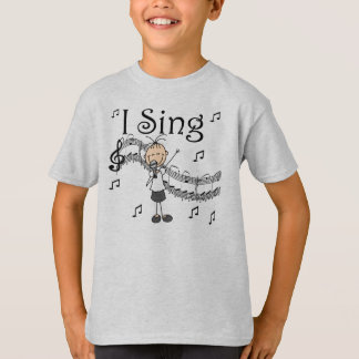 Stick Figure Girl I Sing T-shirts and Gifts