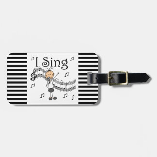Stick Figure Girl I Sing T-shirts and Gifts Luggage Tag