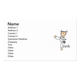 Stick Figure Girl Karate T-shirts and Gifts Pack Of Standard Business Cards