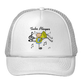 Stick Figure Girl Tuba Player T-shirts and GIfts Hat