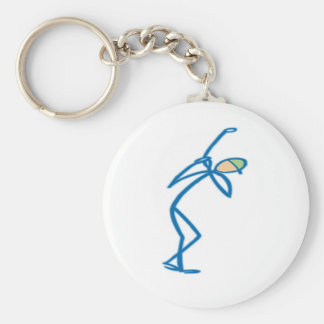 Stick figure golfer T-shirts and Gifts. Key Ring