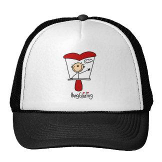 Stick Figure Hang Gliding Baseball Cap Mesh Hat
