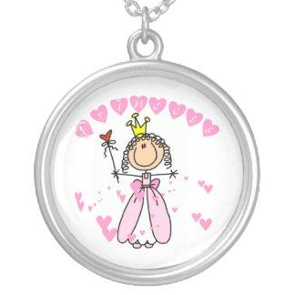 Stick Figure Heart Princess Necklace