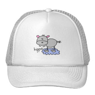 Stick Figure Hippo T-shirts and Gifts Trucker Hat
