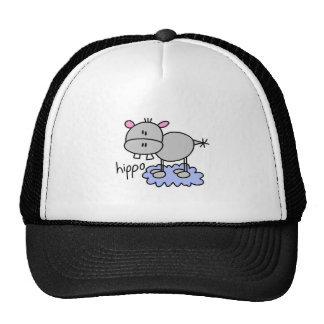 Stick Figure Hippo T-shirts and Gifts Hats