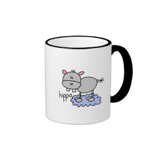 Stick Figure Hippo T-shirts and Gifts Coffee Mug