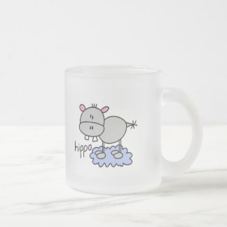 Stick Figure Hippo T-shirts and Gifts 10 Oz Frosted Glass Coffee Mug