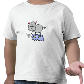 Stick Figure Hippo T-shirts and Gifts