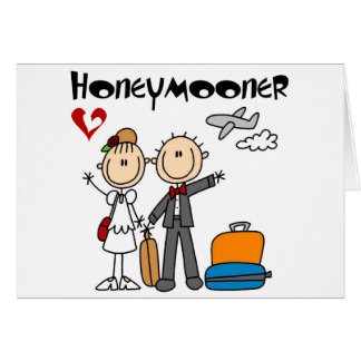 Stick Figure Honeymooner T-shirts and Gifts Greeting Card