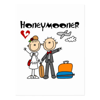 Stick Figure Honeymooner T-shirts and Gifts Postcard