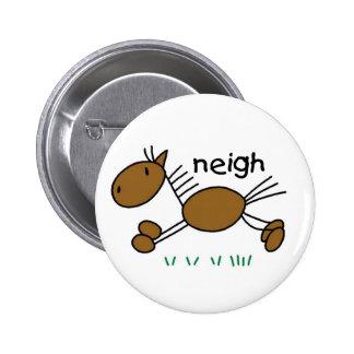 Stick Figure Horse 6 Cm Round Badge