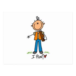 Stick Figure Hunter Postcard