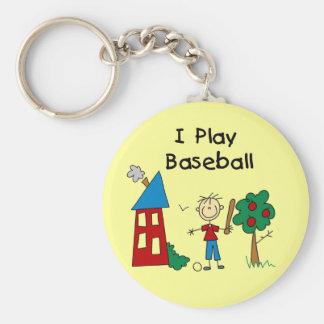 Stick Figure I Play Baseball Tshirts and Gifts Keychains